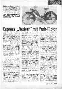Express Radexi mit Puch Motor